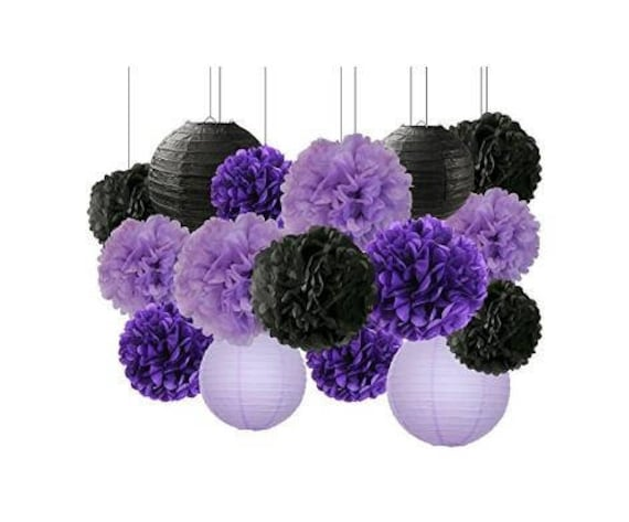 9a2beeb42bd 16 pcs Happy Halloween Party Decorations Kit Paper Lanterns