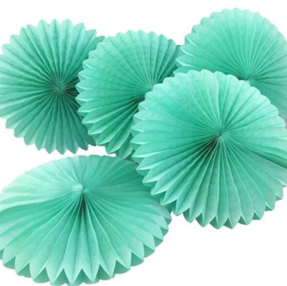 5pcs Mint Green Tissue Paper Fan Flowers Diy Wedding Etsy