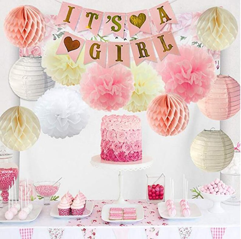 14pcs Girls Baby Shower Party Decorations Its A Girl Baby Etsy