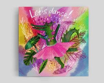 Let's Dance Bright Joy  Crocodile Pink Poster.