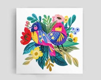 Duet of Edem birds Art Print.