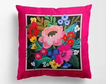 Pink Joy fuchsia Double Side Premium Pillow Case.