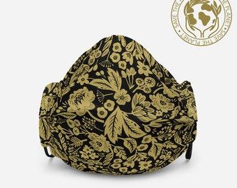 Golden Edem Flowers Face Mask.