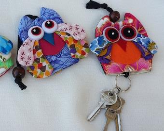 Owl/elephant key chain holder