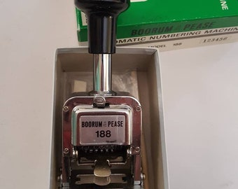 Industrial stamp Automatic numbering stamp 1960s with box