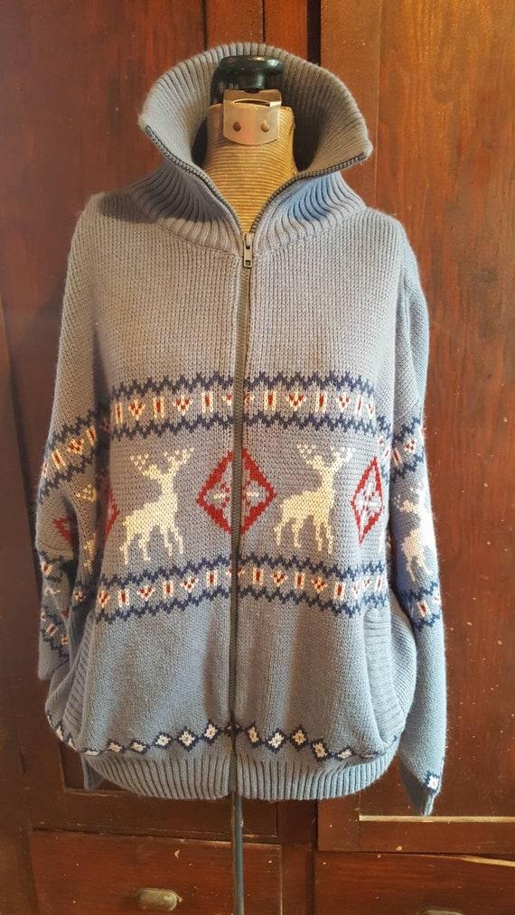90s era Scandia Woods zipfront sweater, 100% acryl
