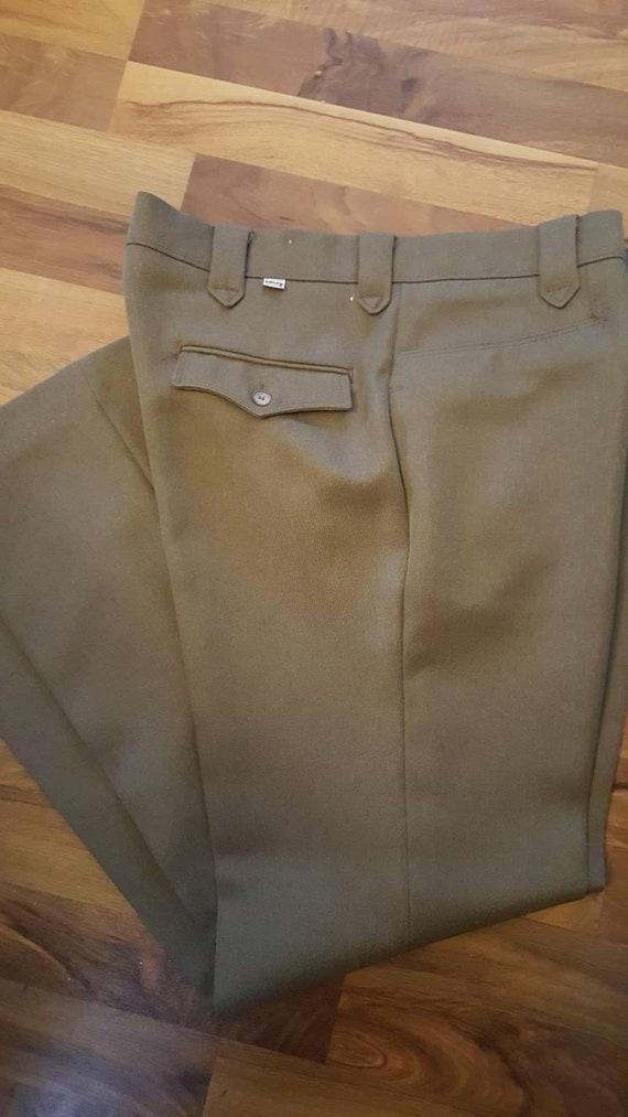 Vintage 1970s era mens Levi western pants. Tannish