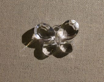 Faux Pearl plastic transparent Butterfly