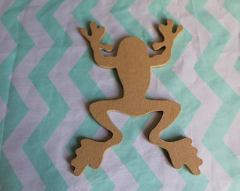 Figurine frog on MDF for creative Home Deco