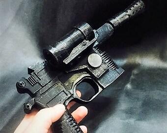 Han Solo  Blaster -Star Wars replica-Star Wars 3dprinted--han solo Cosplay-star wars gift