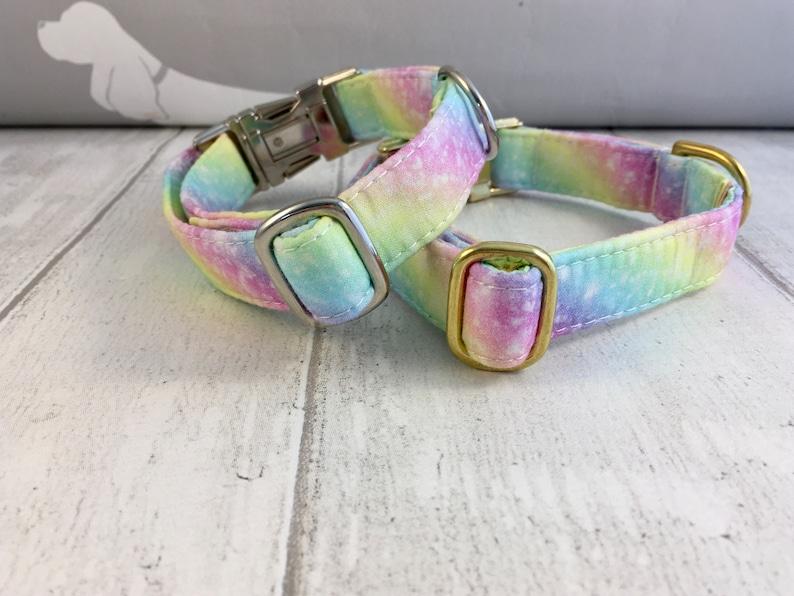 Girly Dog Collar Dog Collar UK Rainbow Dog Collar Dog Collar and Lead Set Dog Collar Pretty Dog Collar Colourful Dog Collar