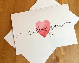 Valentine's heart love card