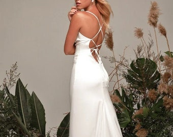 Women White Dress Etsy,Bridesmaid Dress Ideas For Beach Wedding