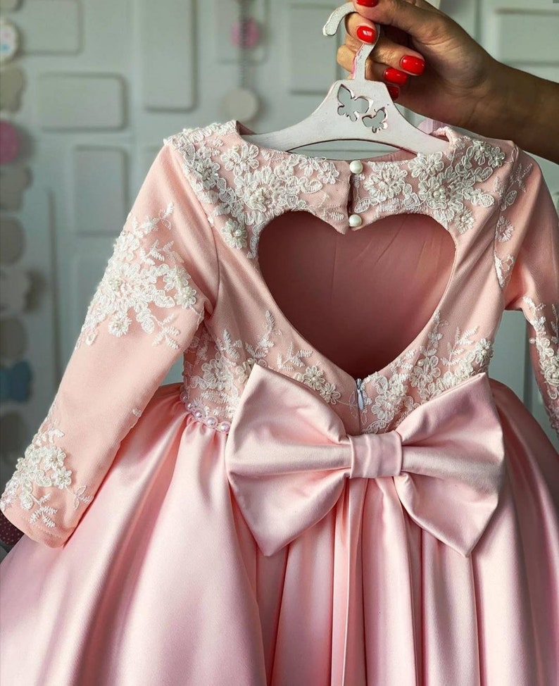 Blush Tulle dress Flowergirl dress Glam dress Girl Tulle | Stay at Home Mum