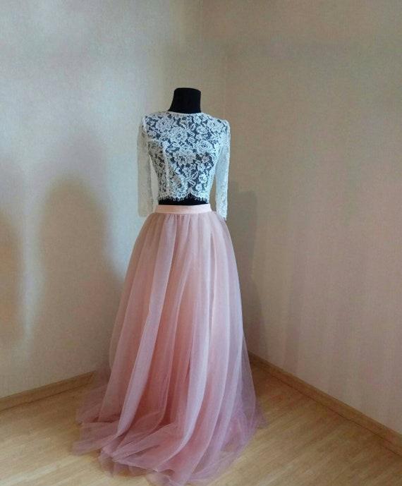 Tulle Skirt Bridal Blush Women Tulle Skirt Dark Blush  Blush Tulle Skirt Casual Women/'s Wedding Blush Tulle Skirt Blush Princess Skirt