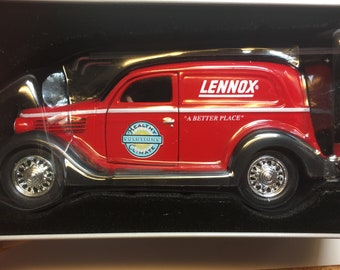 Rare Die Cast Crown Premiums Lennox 1935 Ford Delivery Van Model Car Coin Bank
