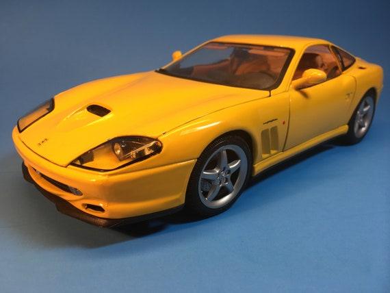 Sharp Ferrari 550 Maranello, 1/18, Yellow, Made by Maisto, Mint