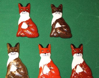 Fox Fuchs Brosche Brooch