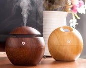 Diffuser essential oil ultrasonic Mist Humidifier led lamp design wood
