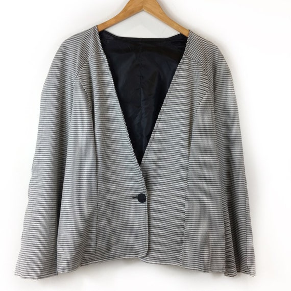 Vintage Jacket, Dogtooth Jacket, Houndstooth Jacke