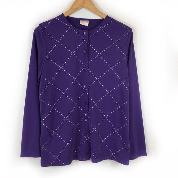 Boho Jacket, Vintage Jacket, Argyle Jacket, 90s Ja