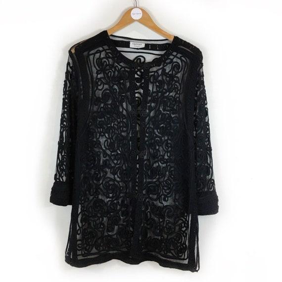 Boho Jacket, Vintage Jacket, Mesh Jacket, 90s Jack