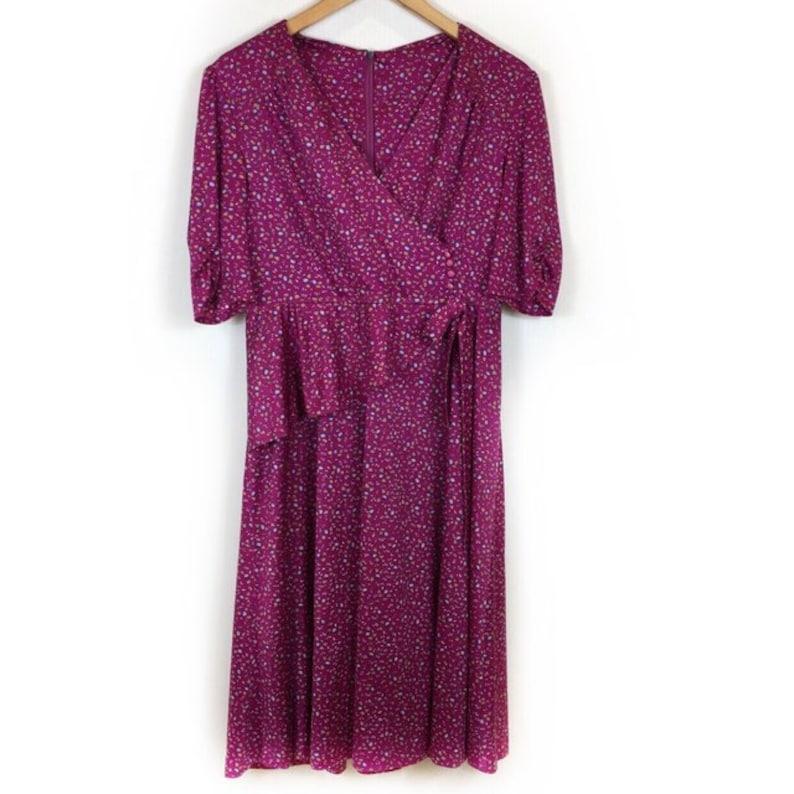 80s Dress Boho Dress Ruffle Dress 90s Dress Handmade Dress Gypsy Dress Summer Dress Retro Dress Vintage Dress Floral Dress