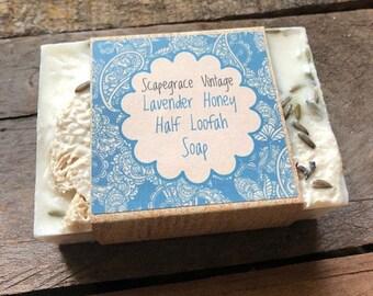 Lavender Honey Half Loofah Soap