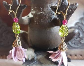 Pendant Floral Earrings
