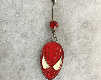 Handmade Spidermand Belly button ring