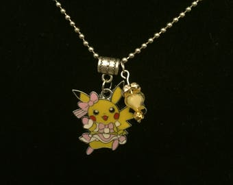 Handmade Girl Pika Pendant Necklace and Charm