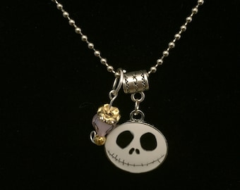 Handmade Jack Skell Pendant Necklace and Charm