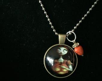 Handmade Sally Pumpkin necklace with pendant