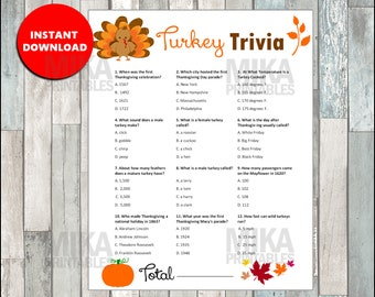 photo regarding Thanksgiving Trivia Printable identify Thanksgiving trivia Etsy