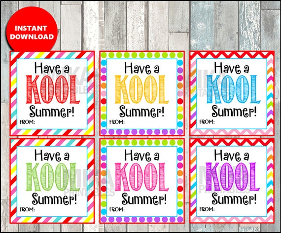 graphic relating to Have a Kool Summer Printable called Consist of a KOOL Summer time Card, Observe, Stop of the college or university, calendar year, Printable Quick Obtain