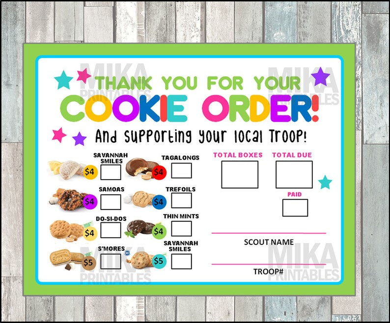 photo relating to Printable Girl Scout Cookie Order Form named Female Scout 2019 Cookie Period Buy Type, LBB Bakery, Lady Scouts Cookie Orders, Woman Scout Cookies, GS Cookies, Printable, Instantaneous Down load
