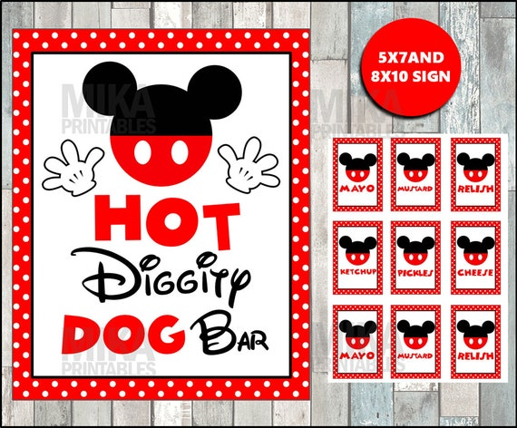 mickey mouse hot diggity dog