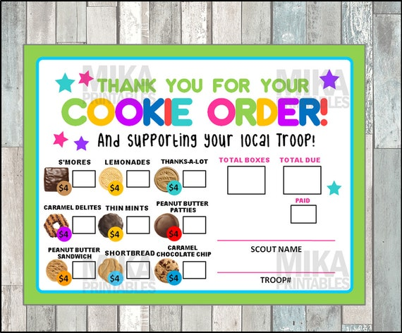 picture about Girl Scout Cookie Order Forms Printable named Woman Scout 2019 Cookie Time Acquire Variety, ABC Bakery, Lady Scouts Cookie Orders, Female Scout Cookies, GS Cookies, Printable, Instantaneous Obtain