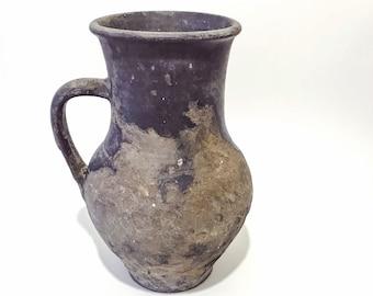 Antique Ceramic Vase/Antique Pottery Vessel/Antique Ceramic Vessel/Antique Pottery/Old Traditional Pottery/Black Ceramic Firing