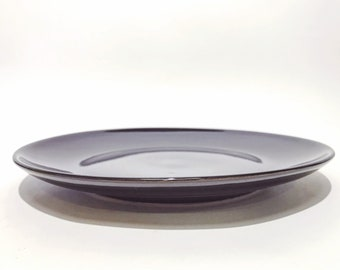 6 Black Plate set Dessert PlateBlack Dinnerware  Pottery Dinner Plates Ceramic Plate Set : black ceramic plates - pezcame.com