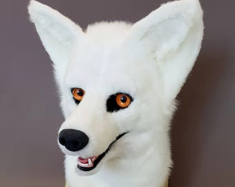 Canine fursuit head semi realistic