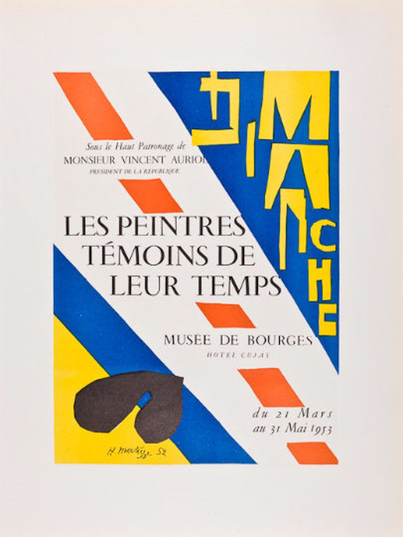 Henri Matisse-The Tate Gallery-1959 Mourlot Lithograph