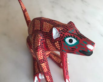 Vintage late 70's early 80's Hand Made & Painted Mexican Folk Art Creature