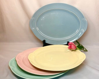 LuRay Pastel dinnerware blue and yellow pieces sold individually