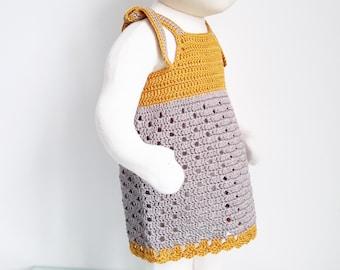 8 - crochet girl summer dress tutorial pattern - sizes 6 months to 6 years