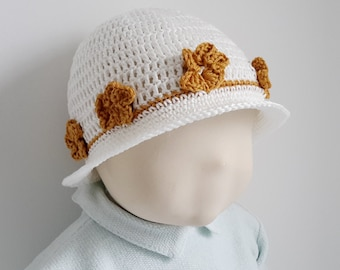 17 - crochet baby summer hat tutorial pattern - sizes 3 months to 2 years
