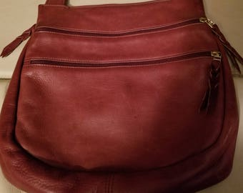 Vintage Sven Cognac Leather Cross body Handbag