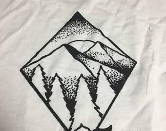 Mountain/Rose Shirt (White)