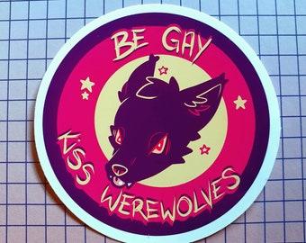 Kiss Werewolves Gloss Vinyl Sticker