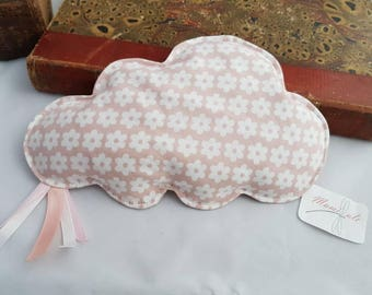Small pink floral cloud white flowers with flaxseed heating pad